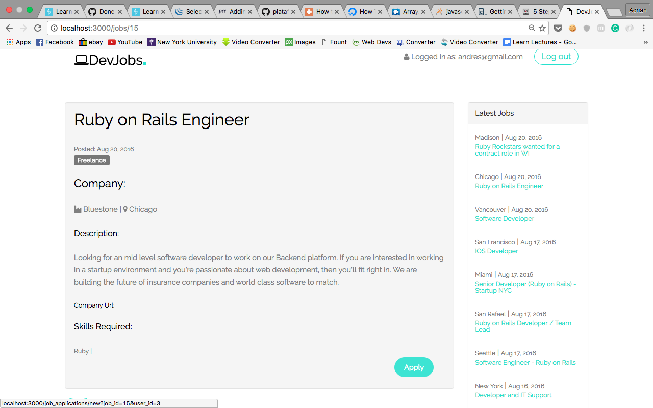 5 steps to building the basics of a job board rails app with this was my final result baditri Images