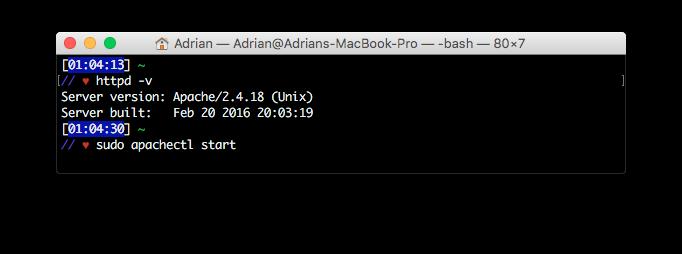 Installing Apache, PHP, and MySQL on Mac OS X – Adrian Prieto